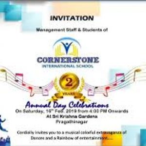 Invitation, annual day, annual day celebration, celebration